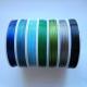 Tmavě modrá, Modrá, Světle modrá, Tmavší zelená, Zelená, Šedá, Černá, průměr 0,45